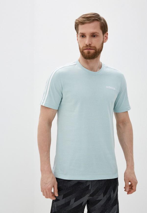 мужская футболка adidas, бирюзовая