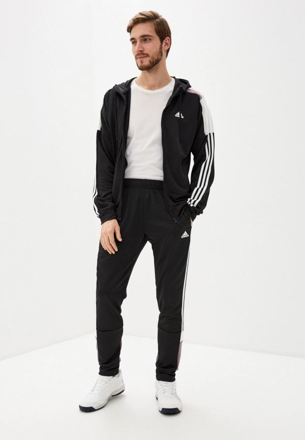 мужской костюм adidas, черный