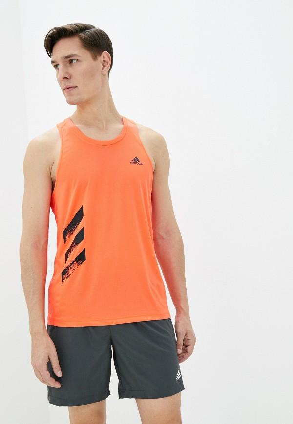 мужская спортивные майка adidas, оранжевая