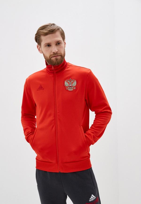 мужская олимпийка adidas, красная