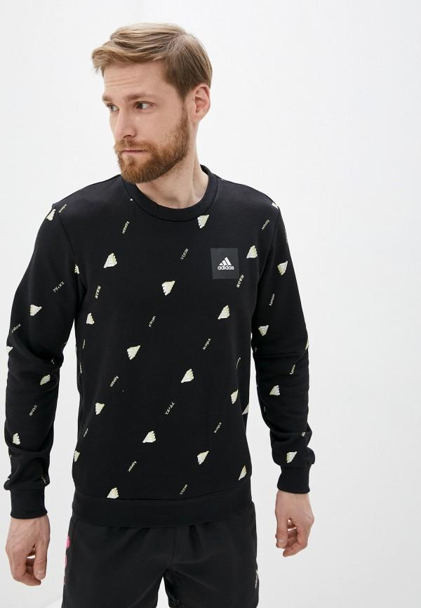 мужской спортивные свитшот adidas, черный