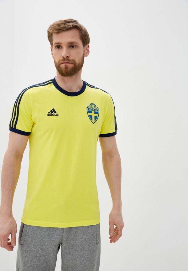 мужская футболка adidas, желтая