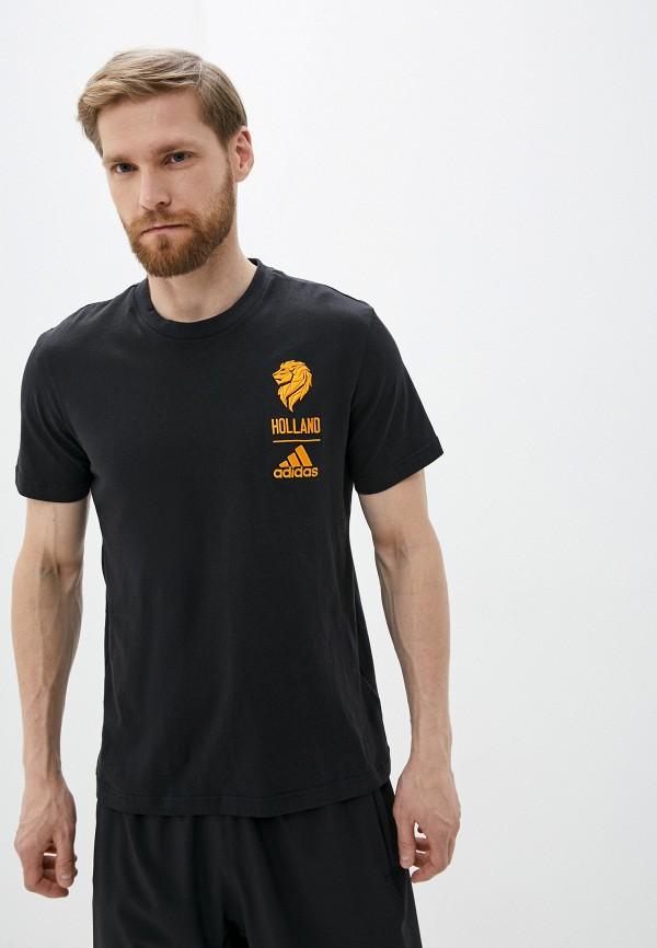 мужская футболка с коротким рукавом adidas, черная