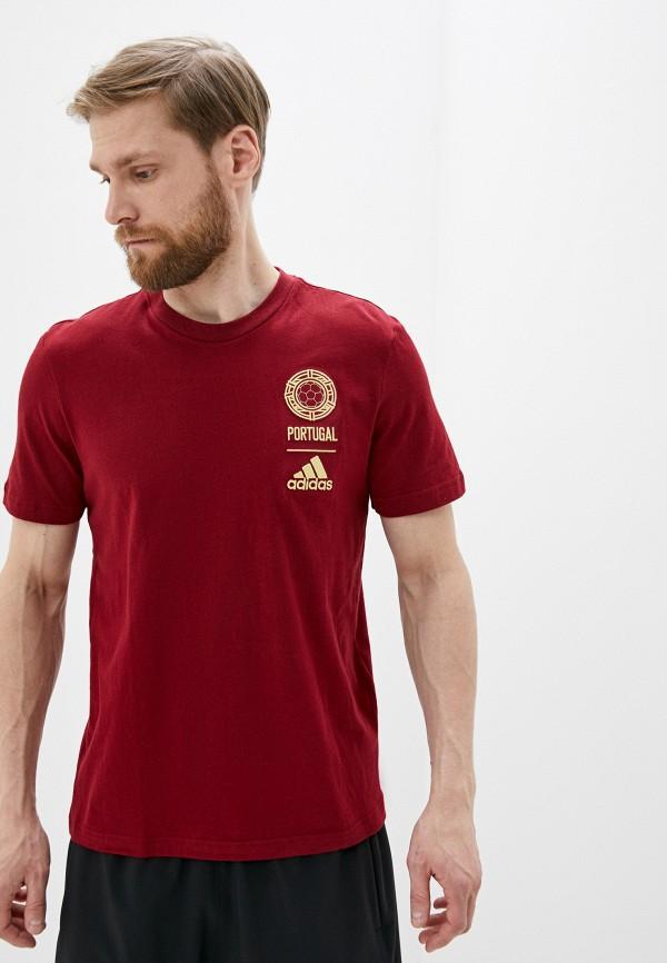 мужская футболка adidas, бордовая