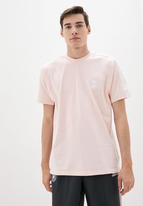мужская спортивные футболка adidas, розовая