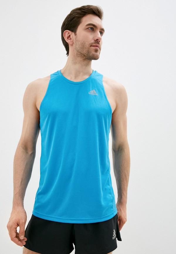 мужская спортивные майка adidas, голубая