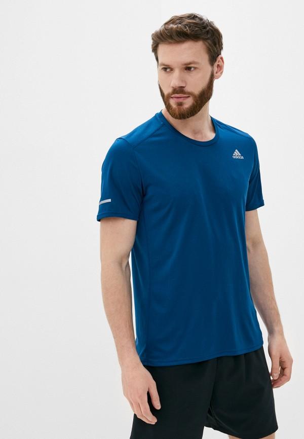 мужская спортивные футболка adidas, синяя