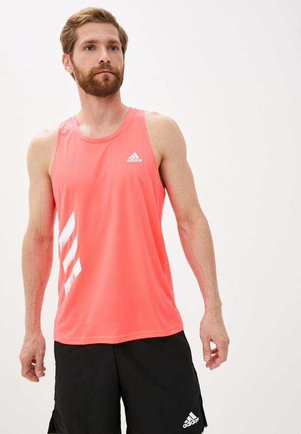мужская спортивные майка adidas, розовая