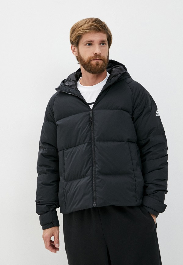 мужской пуховик adidas, черный