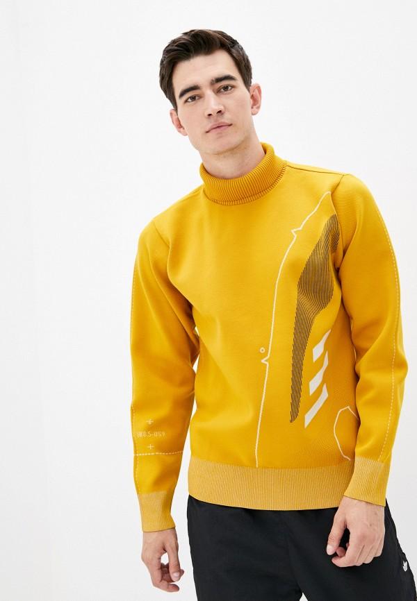 мужской свитер adidas, желтый