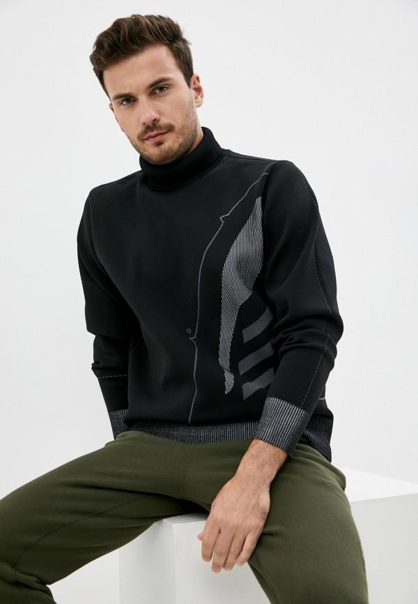 мужской свитер adidas, черный