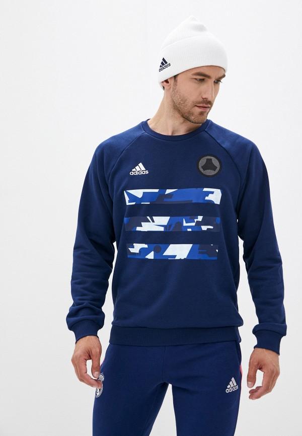 мужской свитшот adidas, синий