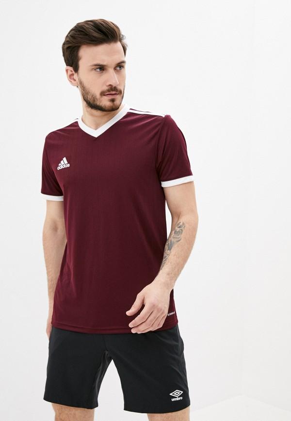 мужская спортивные футболка adidas, бордовая