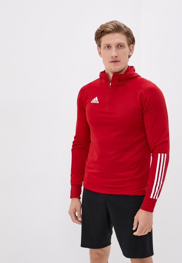 мужская толстовка adidas, красная