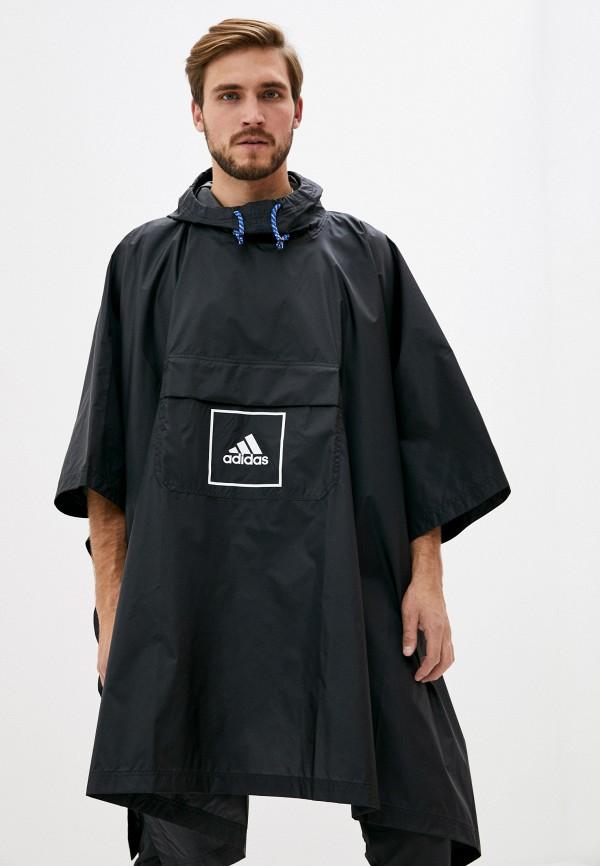 мужской плащ adidas, черный