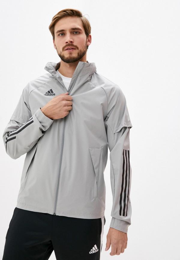 мужская ветровка adidas, серая