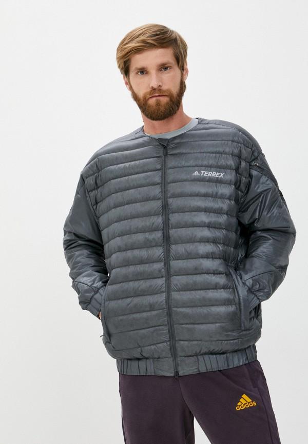 мужской пуховик adidas, серый