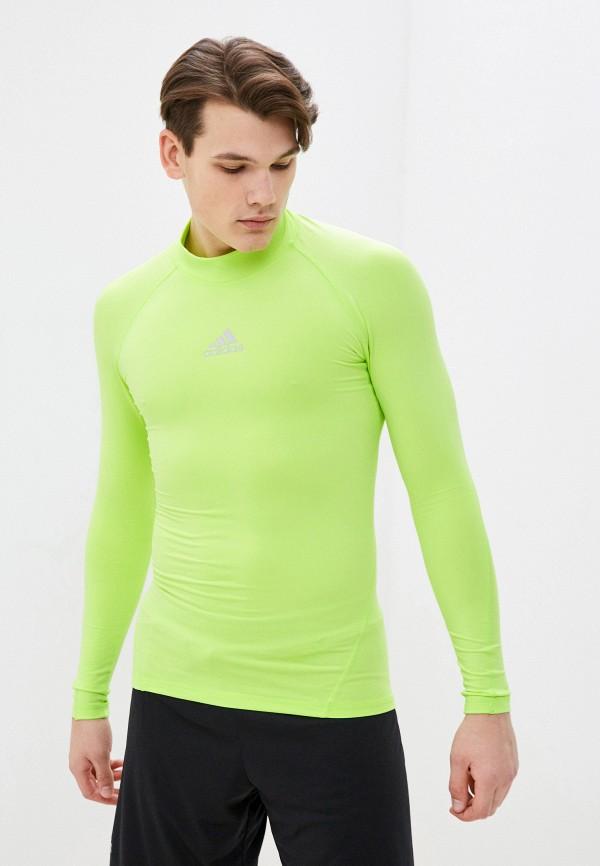 мужской лонгслив adidas, зеленый
