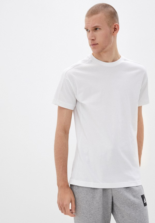 мужская спортивные футболка adidas, белая