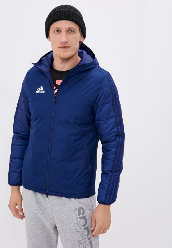 мужская куртка adidas, синяя