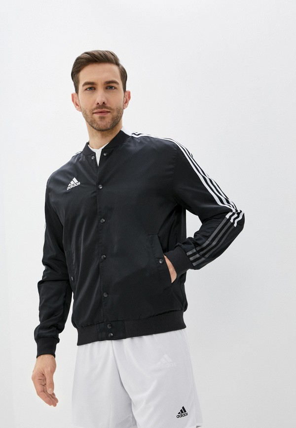 мужская куртка бомбер adidas, черная