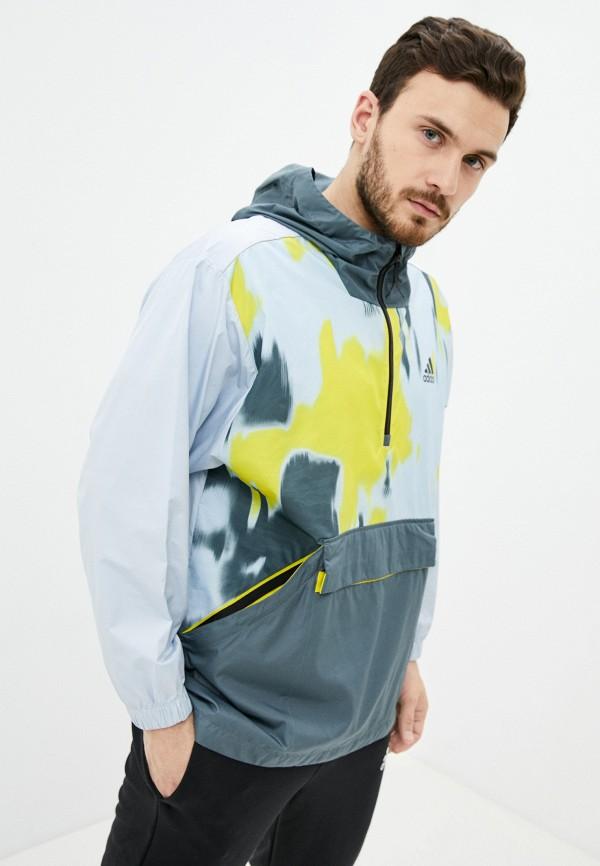 мужская ветровка adidas, разноцветная