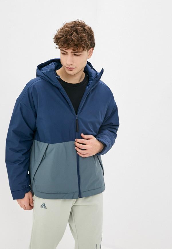 мужская спортивные куртка adidas, синяя