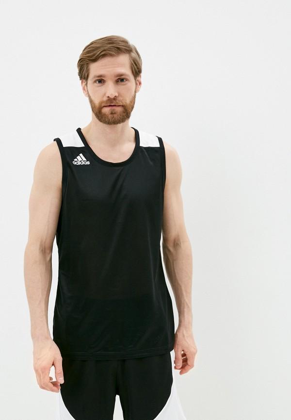 мужская спортивные майка adidas, черная