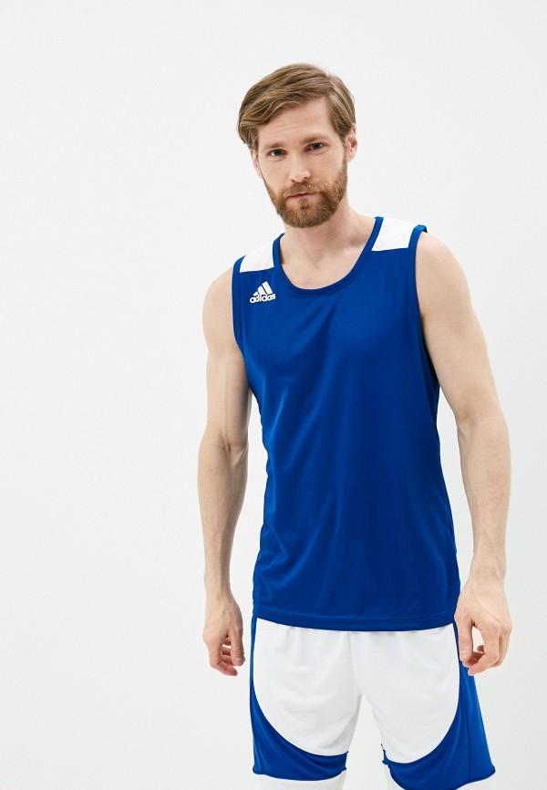 мужская спортивные майка adidas, синяя