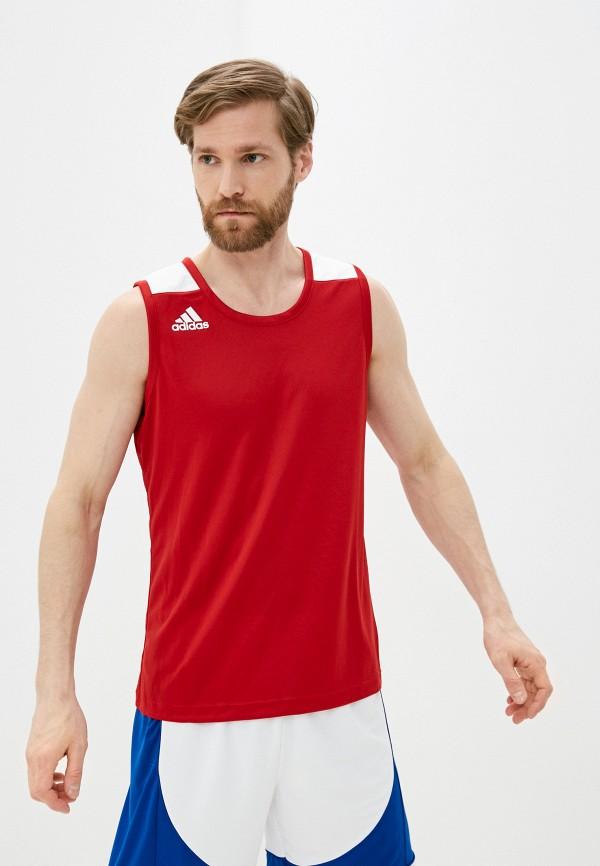 мужская спортивные майка adidas, красная