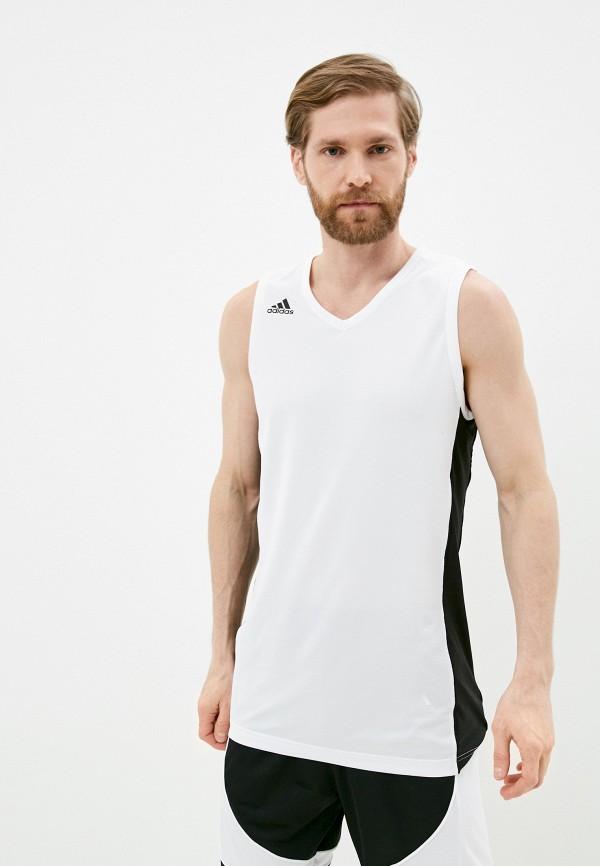 мужская спортивные майка adidas, белая