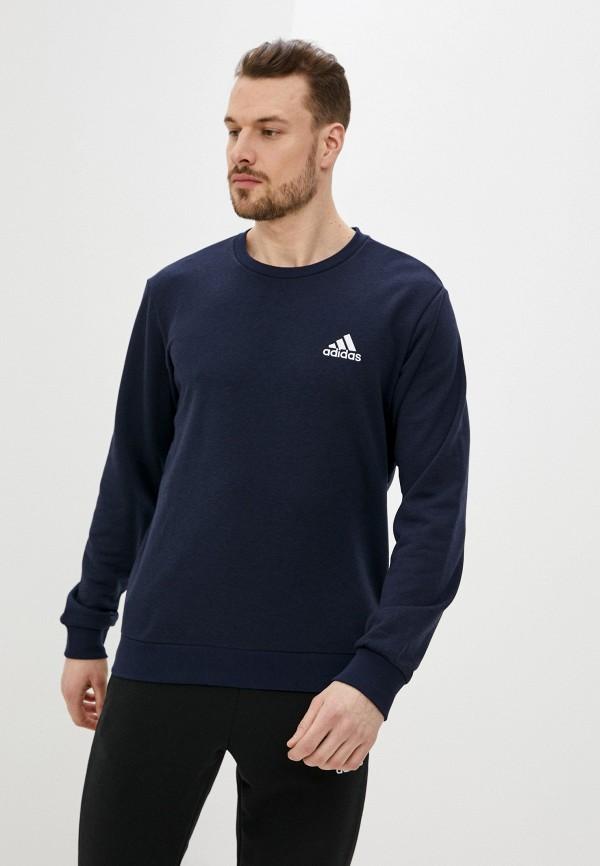 мужской спортивные свитшот adidas, синий