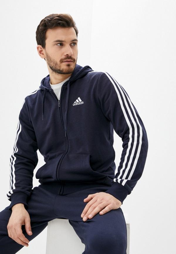 мужская толстовка adidas, синяя