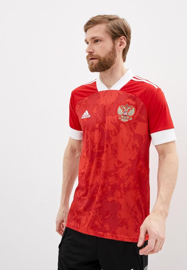 мужская спортивные футболка adidas, красная