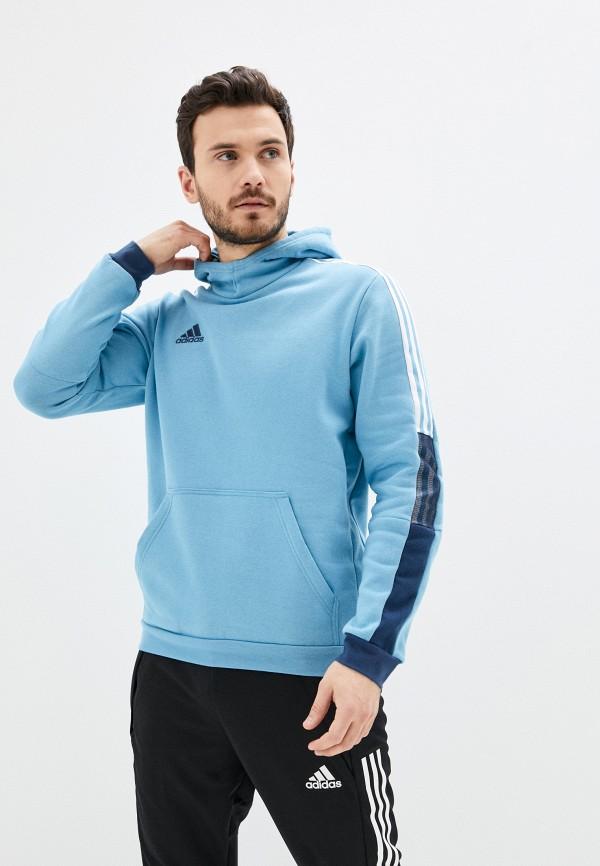 мужские худи adidas, голубые
