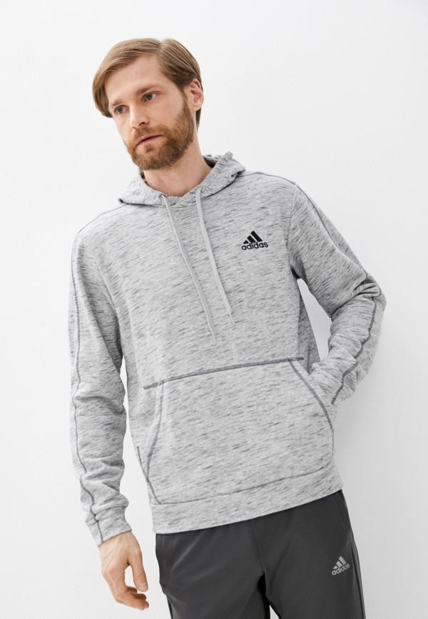 мужские худи adidas, серые