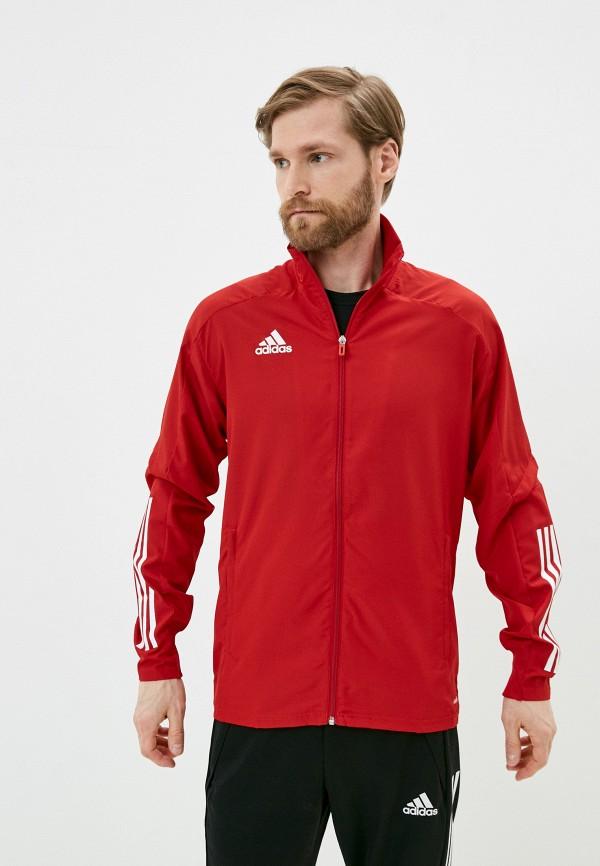 мужская спортивные куртка adidas, красная