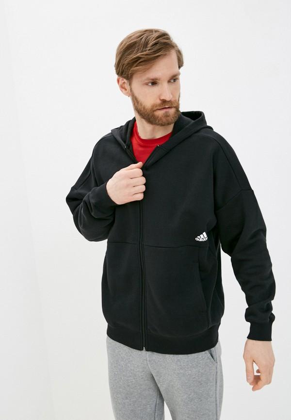 мужская спортивные толстовка adidas, черная