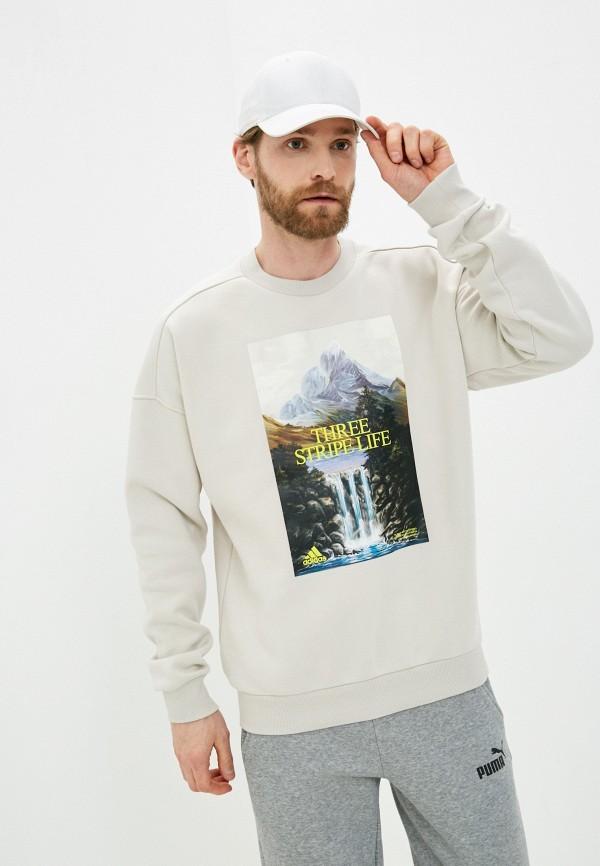 мужской спортивные свитшот adidas, серый
