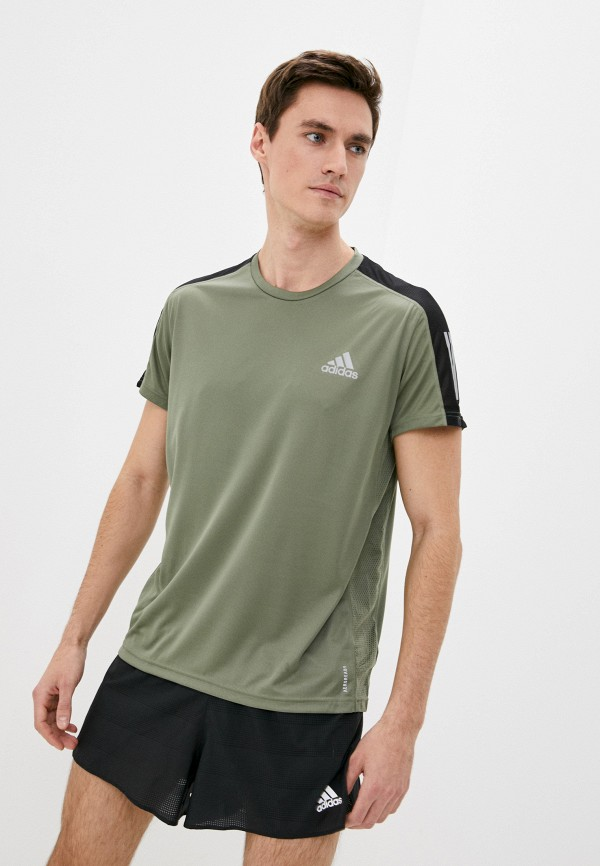 мужская спортивные футболка adidas, хаки