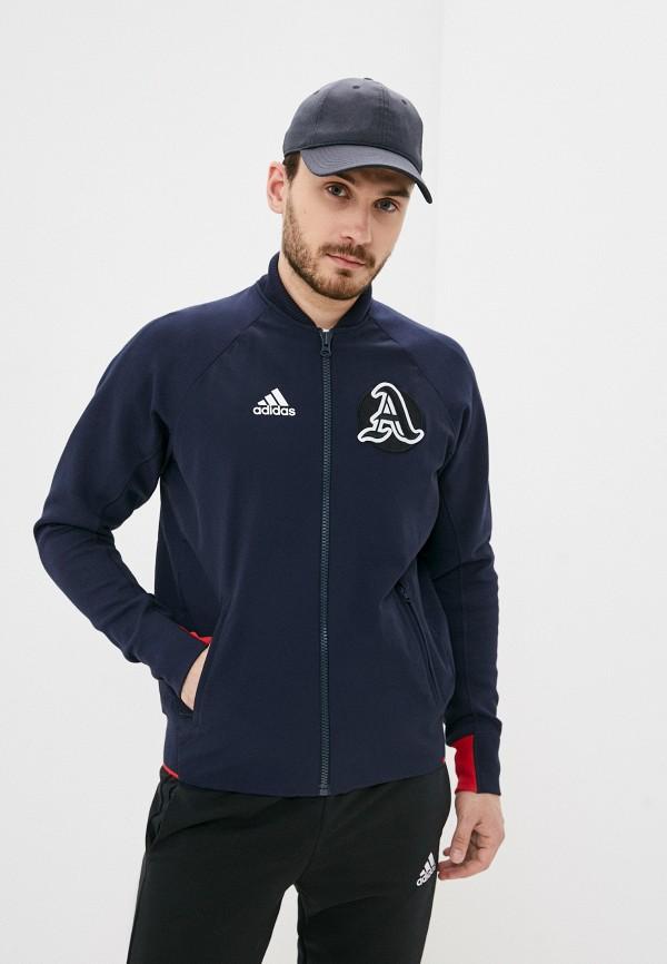 мужская куртка бомбер adidas, синяя