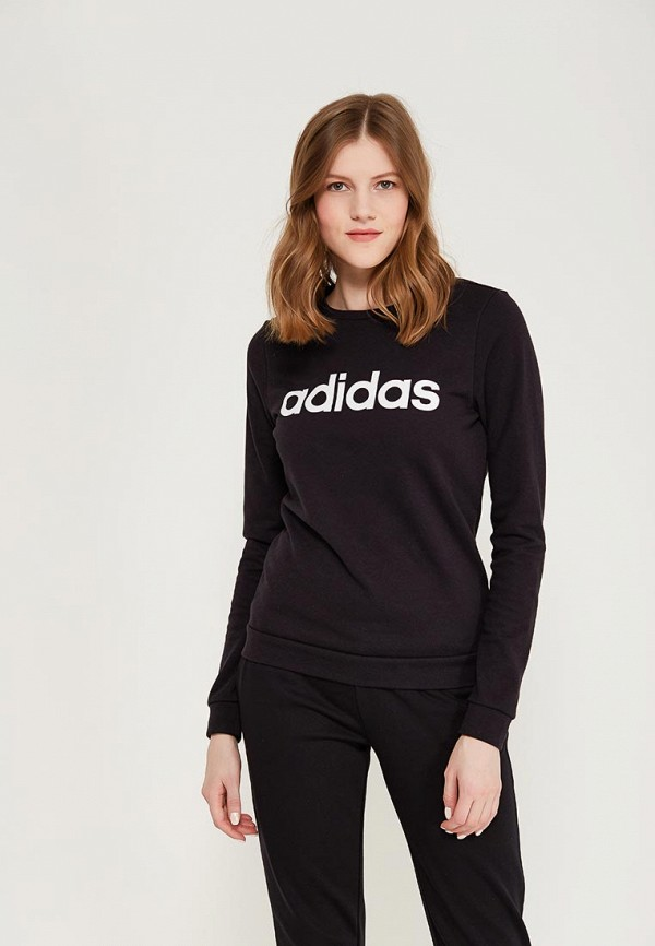 Купить Свитшот adidas, adidas AD002EWALQX1, черный, Весна-лето 2018