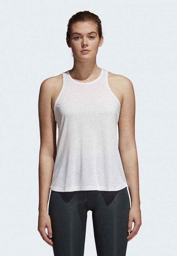 женская спортивные майка adidas, белая