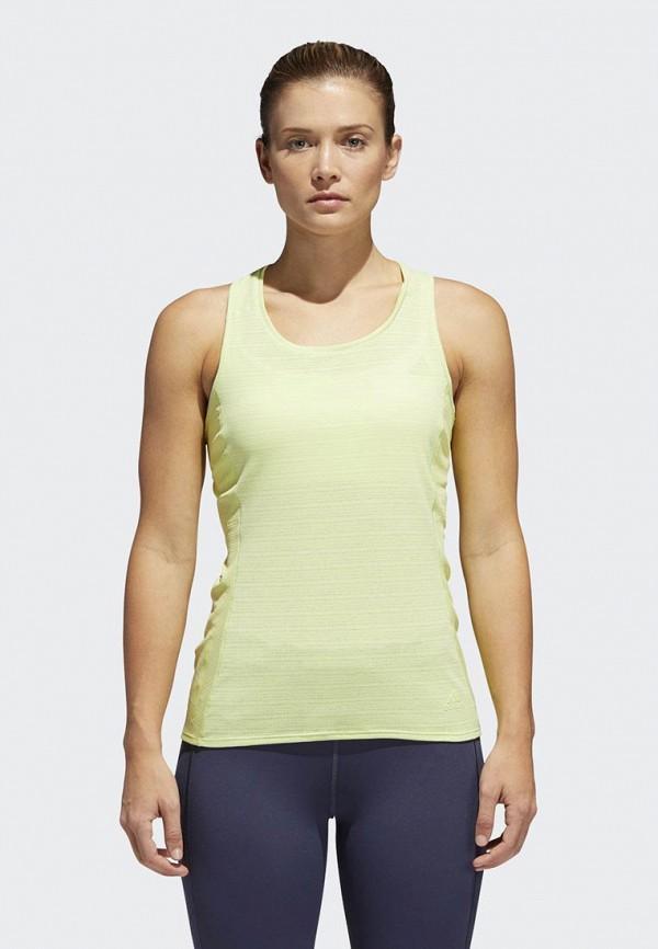 женская спортивные майка adidas, желтая