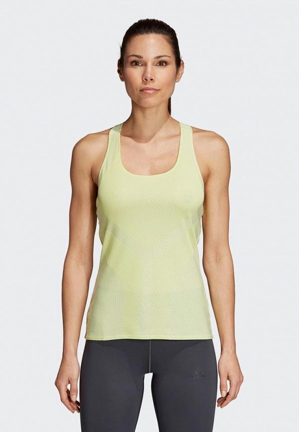 женская спортивные майка adidas, зеленая