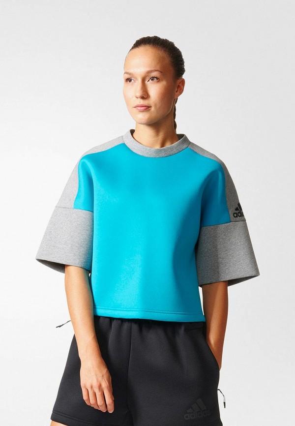 женский свитшот adidas, серый