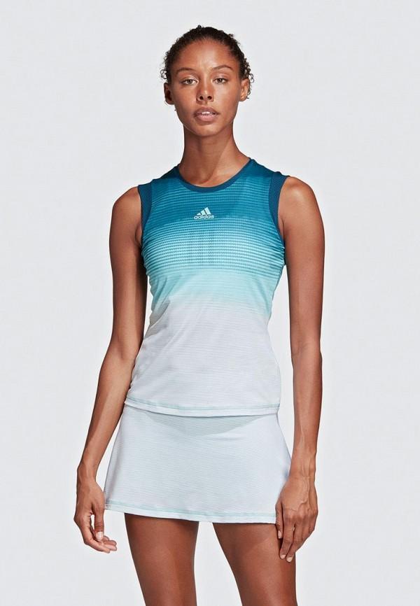 женская спортивные майка adidas, разноцветная