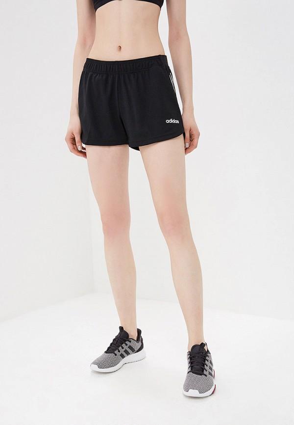 женские спортивные спортивные шорты adidas, черные