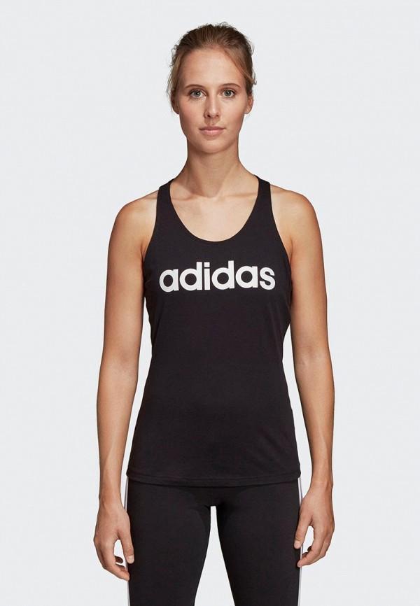 женская спортивные майка adidas, черная