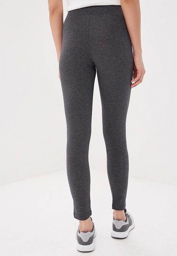Фото 3 - Леггинсы adidas серого цвета